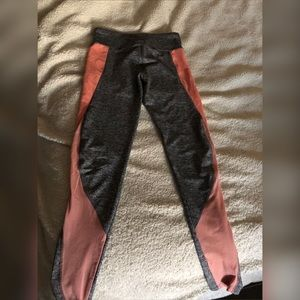 Athletic wear- pink & gray leggings